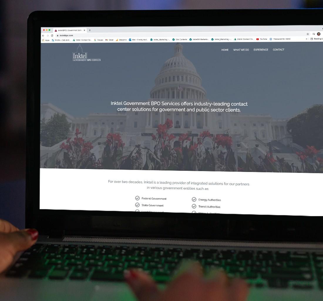 Inktel Government BPO Website